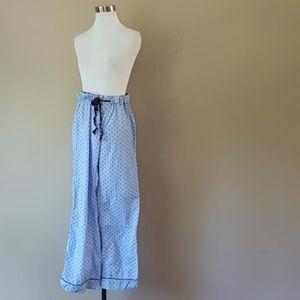 J Crew Large Cotton Blue Pajama Pants